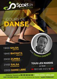 Affiche des cours de salsa, bachata, zumba les mardis au Red House